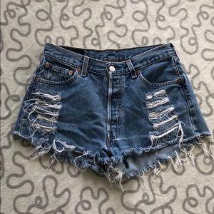 Levi's Vintage High Rise Distressed Shorts